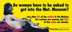 La misma campaña de Guerrilla Girls actualiza en 2004. Los datos hablan por sí solos.