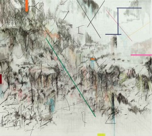 "Julie Mehretu. ""Co-Evolution of the Futurhyth Machine (after Kodwo Eshun)"", 2013"