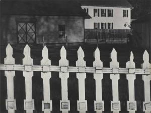 Paul Strand - White Fence, Port Kent, New York, 1916