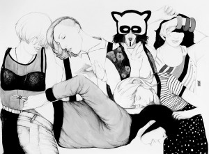 Rosana Antolí - Narcoleptic girls partying, 2012